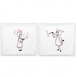 """Jastuci u paru sa romantičnim motivom """"Čarobnjak"""""""