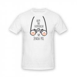 Unisex majica Ekspedicija na ženski pol - bela