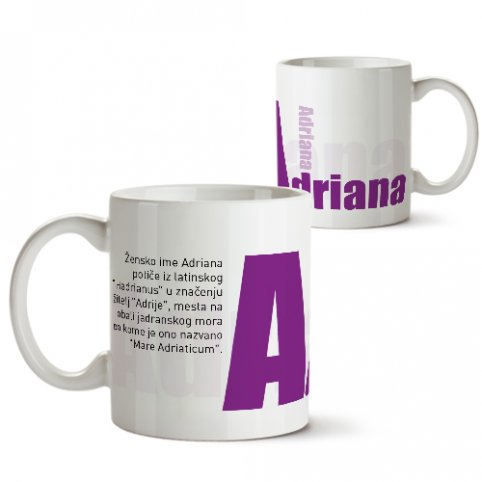 Šolje sa imenima - Adriana